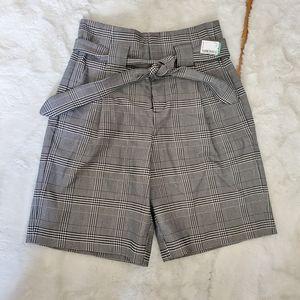 Icone high waist plaid  bermuda shorts sz 8